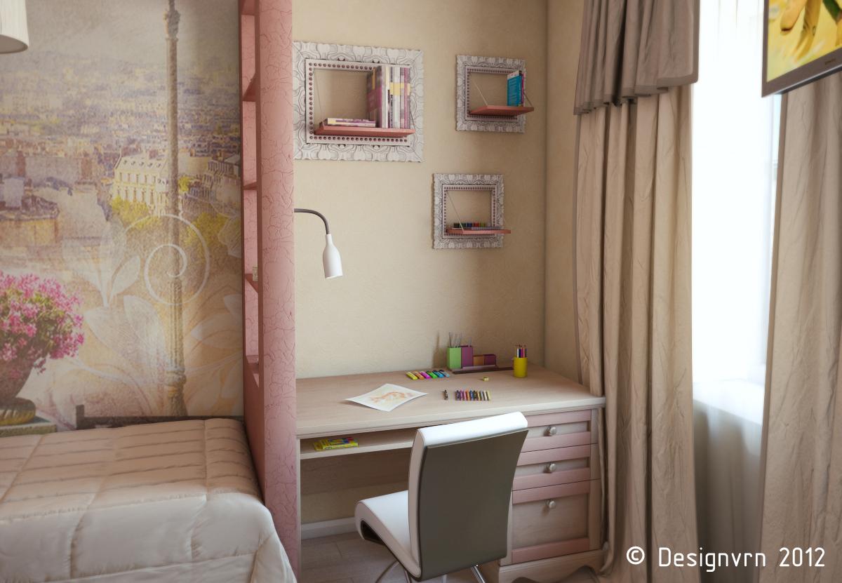 Дизайны маленьких комнат с перегородкой