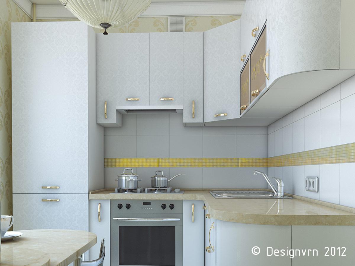 Идеи для кухни в хрущевке с холодильником фото