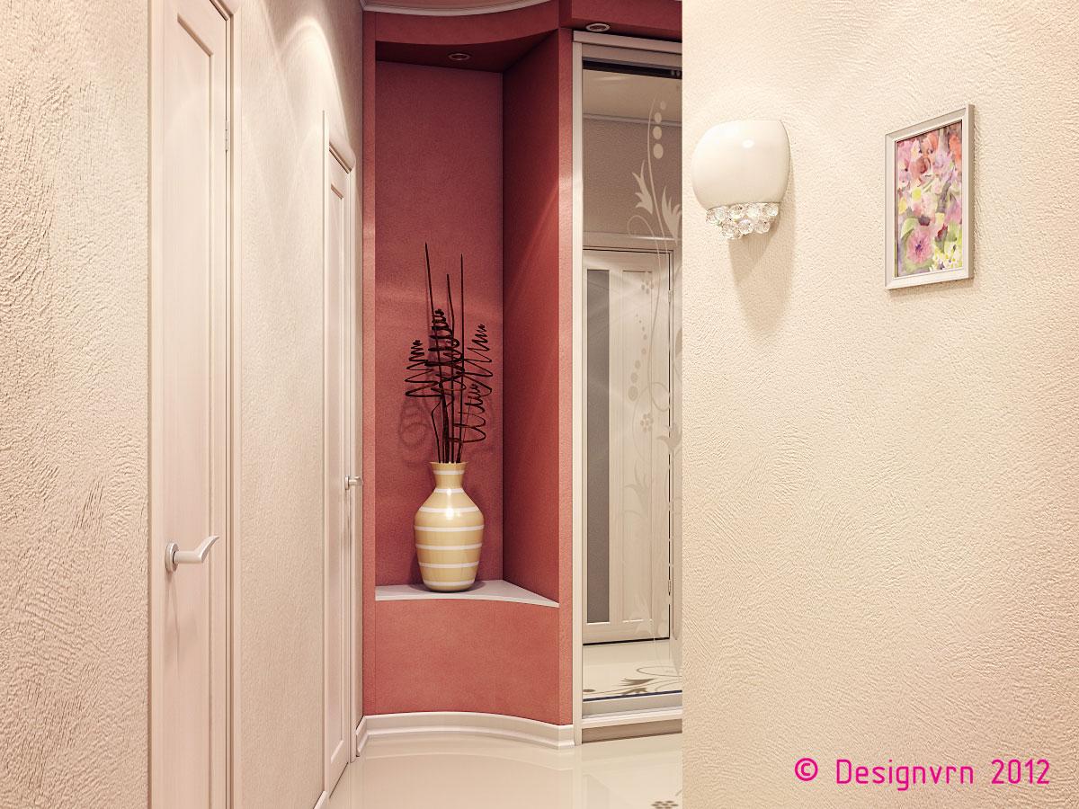 Дизайн ниши в стене в прихожей