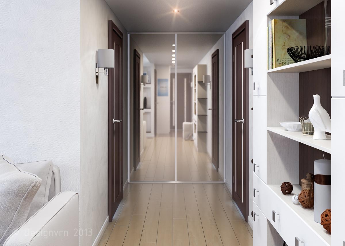 Дизайн коридоров в обычной квартире 172