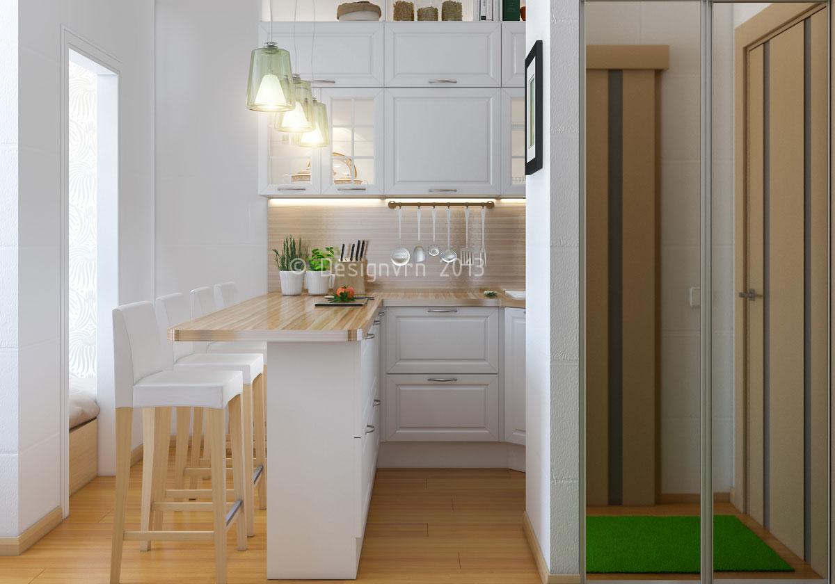 Кухня со спальным местом 10 кв м дизайн